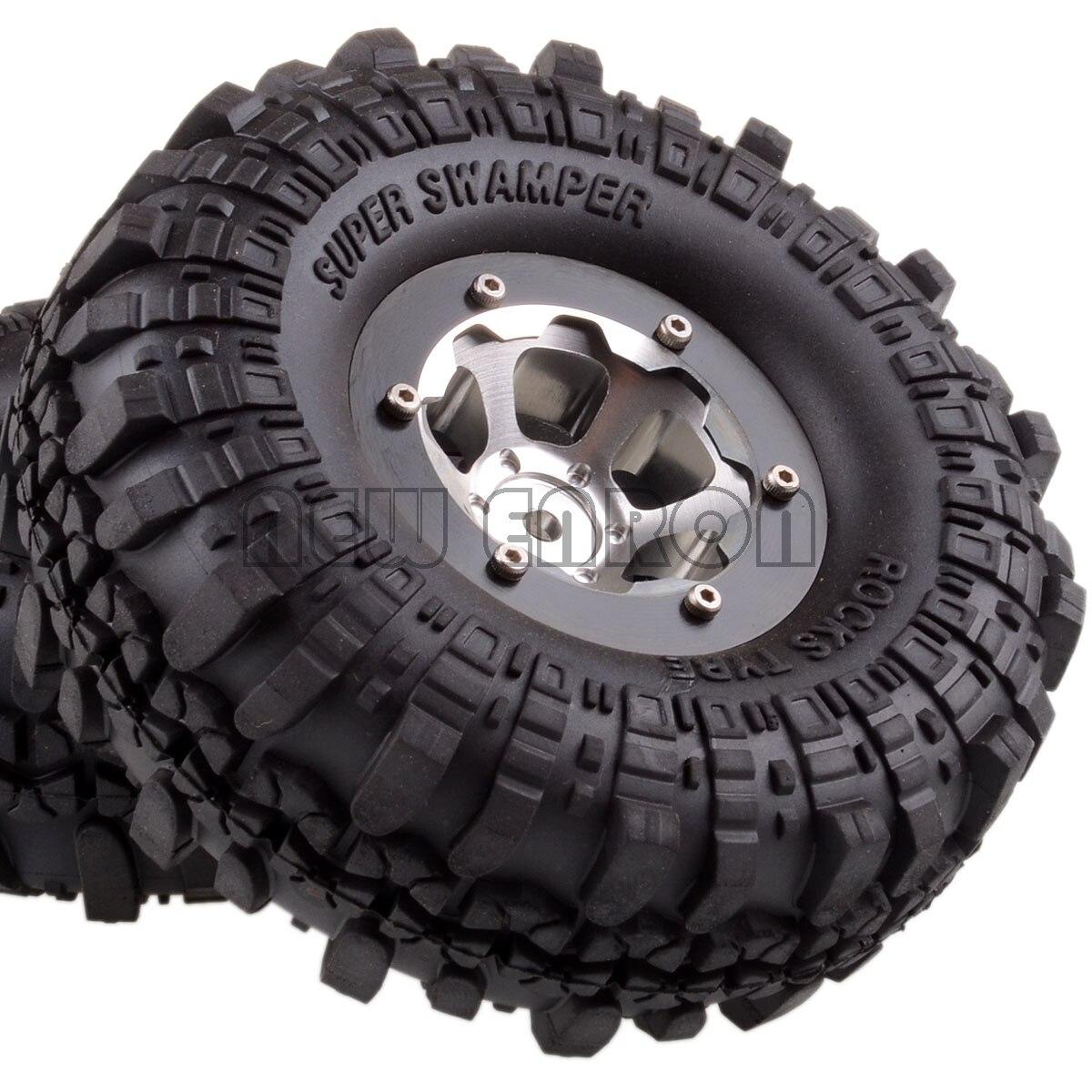 NEW ENRON 1P 1.9 Inch Aluminum Wheel Rim Hub 110MM Super Swamper Tyre Tires For RC 1:10 Rock Crawler D90 D110 MST Jimny TRX4 TF2