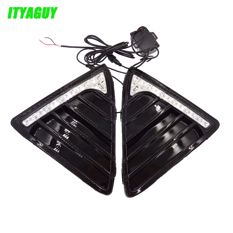 New Car Accessories LED DRL Daytime Running Lights 12V Daylight Fog light LED fog lamp for For Ford Focus 3 2012 2013 2014 4in1 daytime running light 12v 12w led car emergency strobe lights drl wireless remote control kit car accessories universal