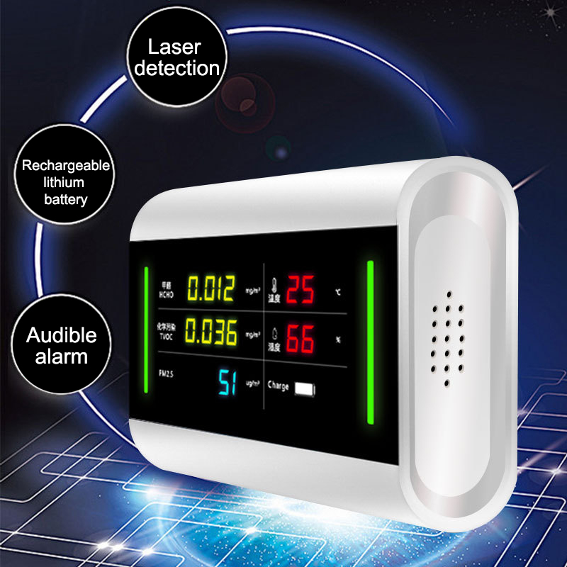 Formaldehyde Tester Laser Detector PM2.5 Air Quality Monitor Multi-function HCHO TVOC PM2.5 Detector High Precision Gas Analyzer handheld laser portable high quality indoor air quality detector page 8