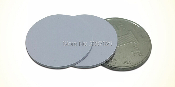 Waterproof RFID Tag 13.56mhz 25mm PVC Coin Card Passive Proximity Tag with FM1108 2000pcs/lot  Direct Sale From Factory waterproof contactless proximity tk4100 chip 125khz abs passive rfid waste bin worm tag for waste management