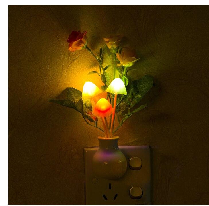 2-Pack LED Night Light Sensor de Indução Elétrica Veilleuses Noturna Sonho Fungo Cogumelo Forma de Conservação de Energia