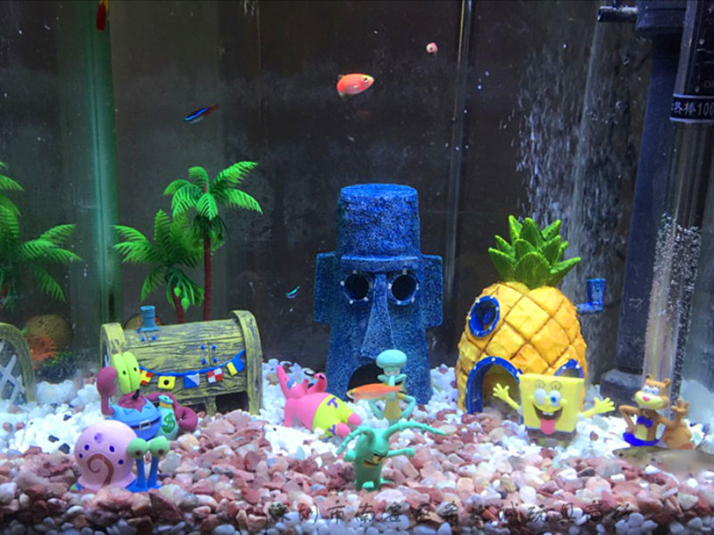 Popular spongebob tank decorations buy cheap spongebob for Aquarium decoration