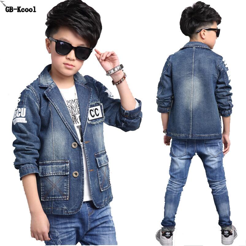 1afbb319be9 GB Kcool Fashion Children s Denim Jackets 2017 Boys Jeans Outerwear ...