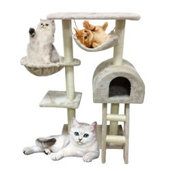 New Style Funny 100CM Cat's Climbing Frame With Ladder Durable Pet Scratching Post Lovely Cat's Tree Comfortable Pet Furniture