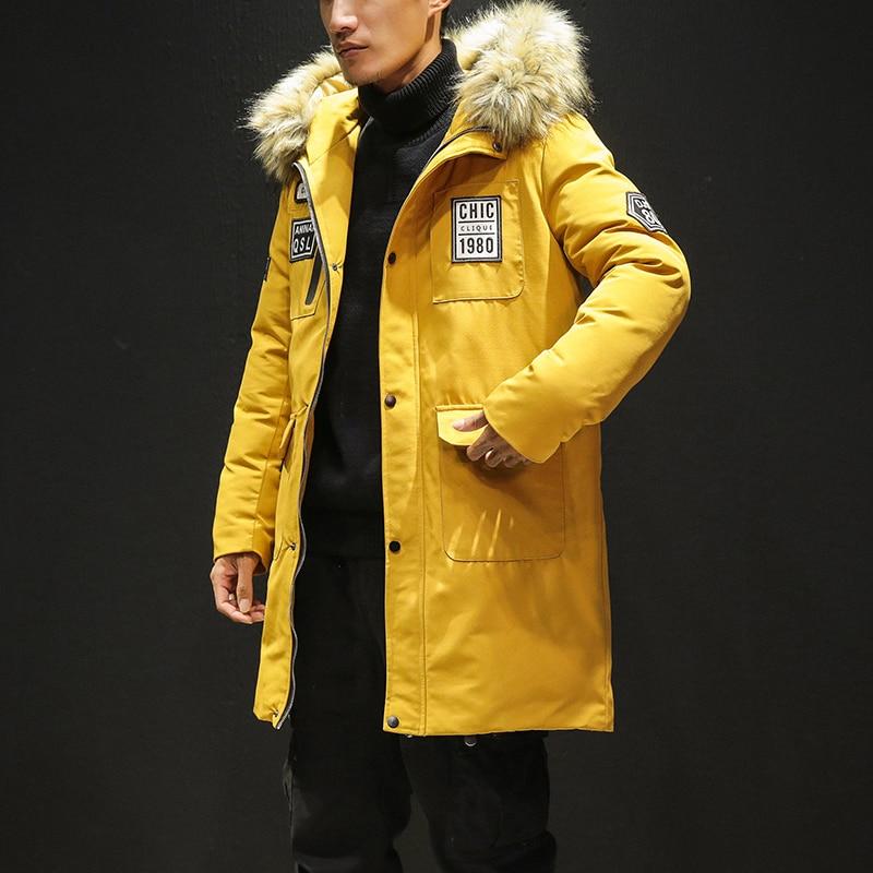 Men Winter Long Down Jackets Hooded Casual Winter Coats New Fashion Men High Quality Outwear Warm Winter Parkas Size 5XL