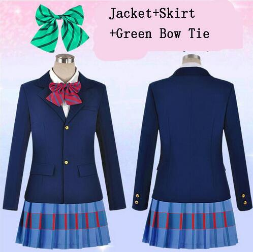 New Arrival Japanese Anime Love Live Cosplay Costumes Halloween Party Lovelive School Uniform Jacket+Skirt + Bow Tie