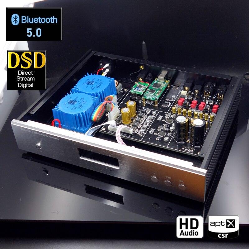 2019 Novo Áudio Brisa DC100 AK4497 Digital Decodificador De Áudio DAC Suporta DSD AK4497EQ Atualização XMOS USB Bluetooth 5.0 Opcional