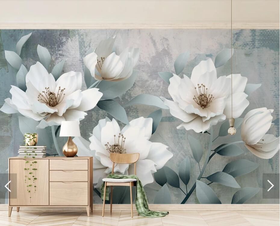 Custom Vintage Floral Wallpaper Mural 3D Photo Wallpapers