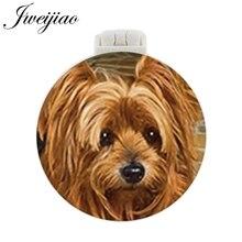 JWEIJIAO Rich Princess Dog Pocket Mirror With Massage Comb PET Folding Compact Portable Makeup Hand Vanity Mirrors espelho