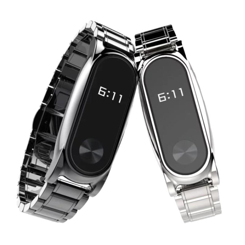 Cleveres Zubehör Intelligente Elektronik Mjobs Für Xiaomi Mi Band 2 Strap Plus Edelstahl Metall Schraubenlose Handgelenk Gurt Für Mi Band 2 Smart Armband Armband