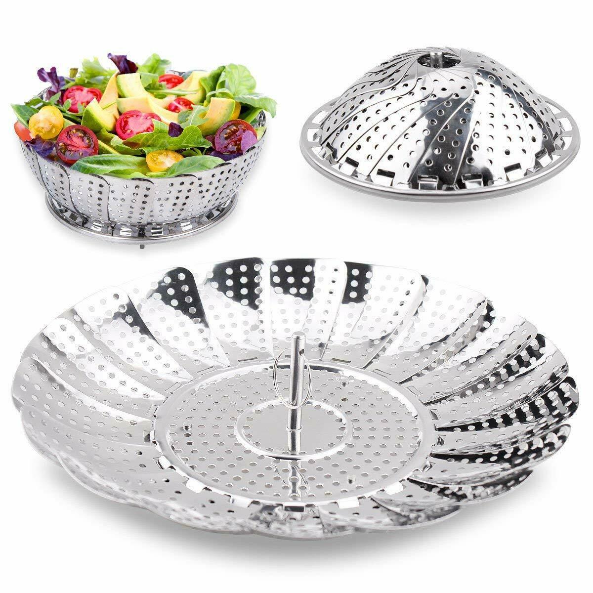 Stainless Steel Vegetable Steamer Basket Dumpling Basket Fruit Steam Tray