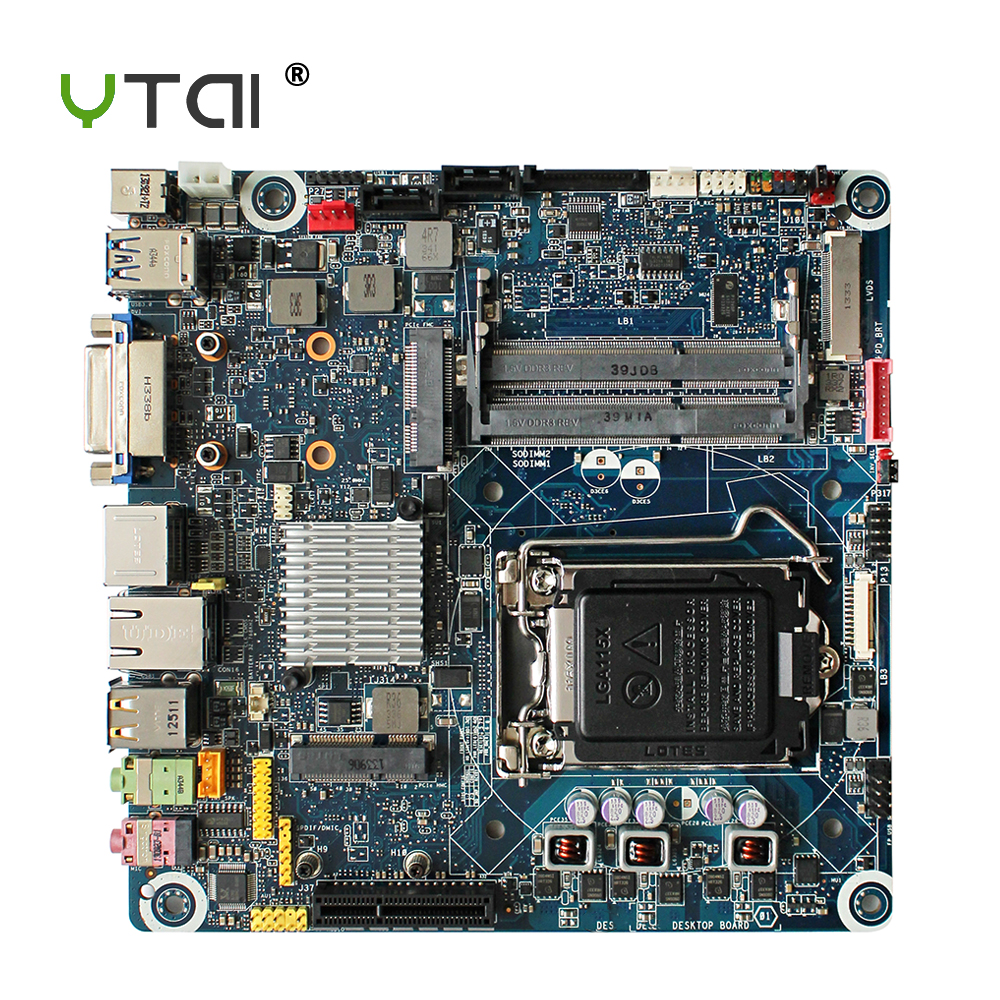 YTAI for Intel DH61AG desktop motherboard LGA1155 H61 DDR3 USB3.0 mainboard 100% tested ytai for asus a54ly x54ly x54hy k54hr a54hr k54ly laptop motherboard rev2 1 intel hm65 ddr3 pga989 mainboard 100% working