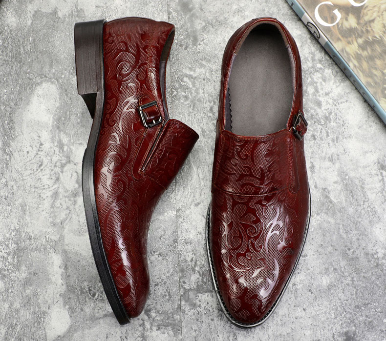 New Brand Slip On Men Luxury Patent Shoes Oxford Genuine Leather Shoes High Quality Cow Leather Carving Business Shoes in Formal Shoes from Shoes