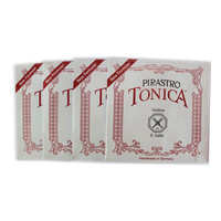 4 pcs/set Original Pirastro Tonica Violin Strings A, E, G, D Nylon Violino Strings 4/4 3/4 2/4 1/4 High Quality Accessories