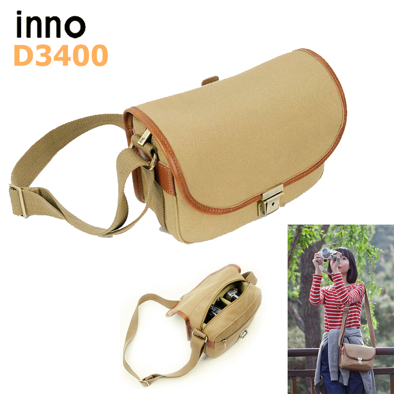 ФОТО Lightupfoto Canvas camera shoulder bag with partition padded inside camera bag for SLR cameras PACPFD3400