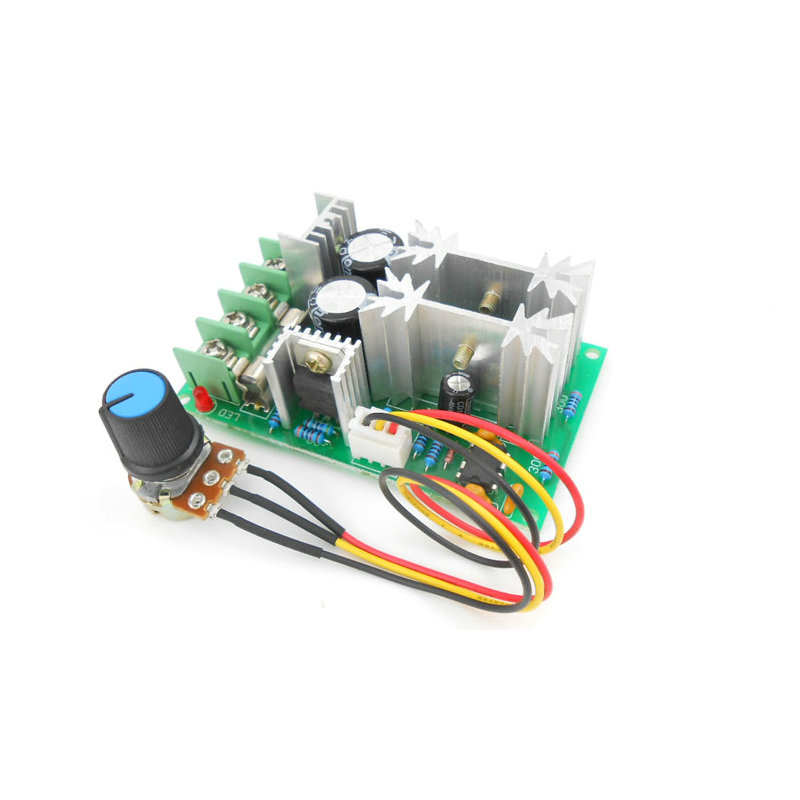 цена на DC motor speed regulator 12V 24V 36V 48V High power drive module PWM Motor speed controller 20A current regulator