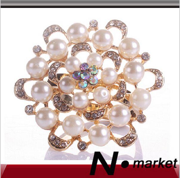 Ücretsiz Kargo Yeni Stil Yüksek Kalite Peal Elmas Çiçek Peçete Halkaları Düğün Peçete Sahipleri Dekorasyon Için