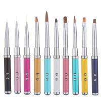 10pc Nail Art Tips Crystal Acrylic Drawing Polish Laser Pen Touch Screen X9082