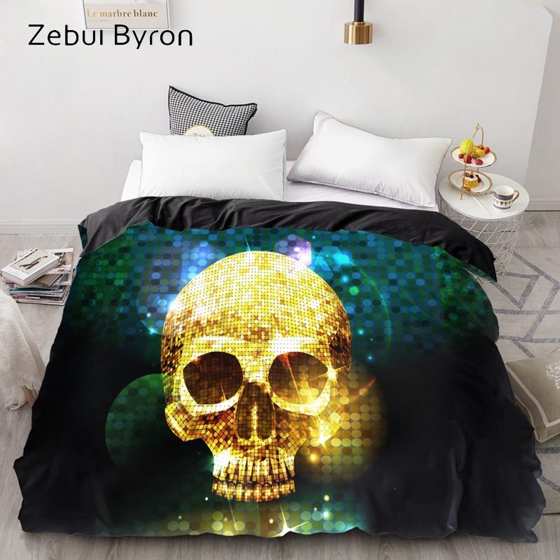 3D HD Print Custom Duvet Cover,Comforter/Quilt/Blanket case Queen/King,Bedding 135/220/240/200×200,Halloween gold Skull Sleeping bags & camp bedding cb5feb1b7314637725a2e7: 01|02|03|04|05|06|07|08|09|10|11|12