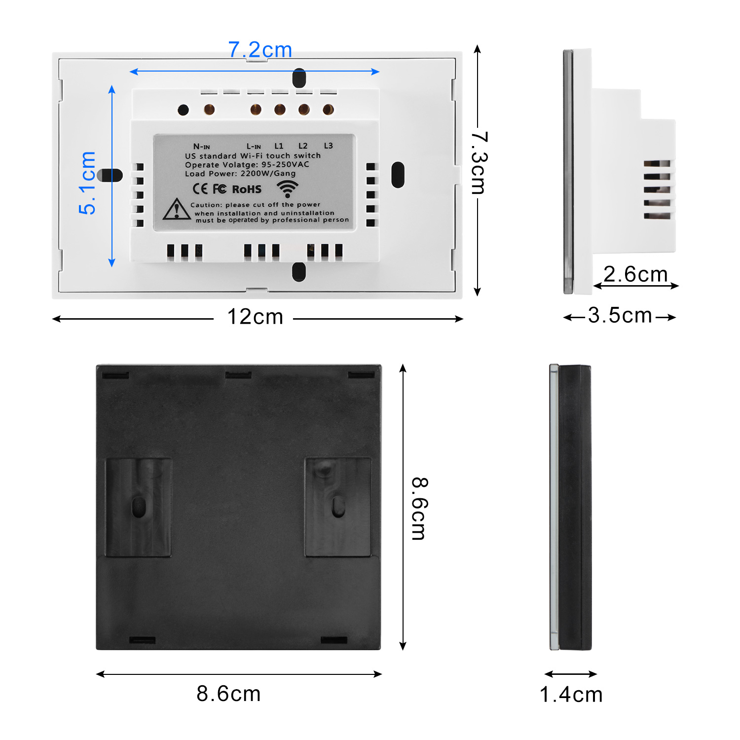 Switch Plates Neutral Line Needed Electrical Smart WiFi