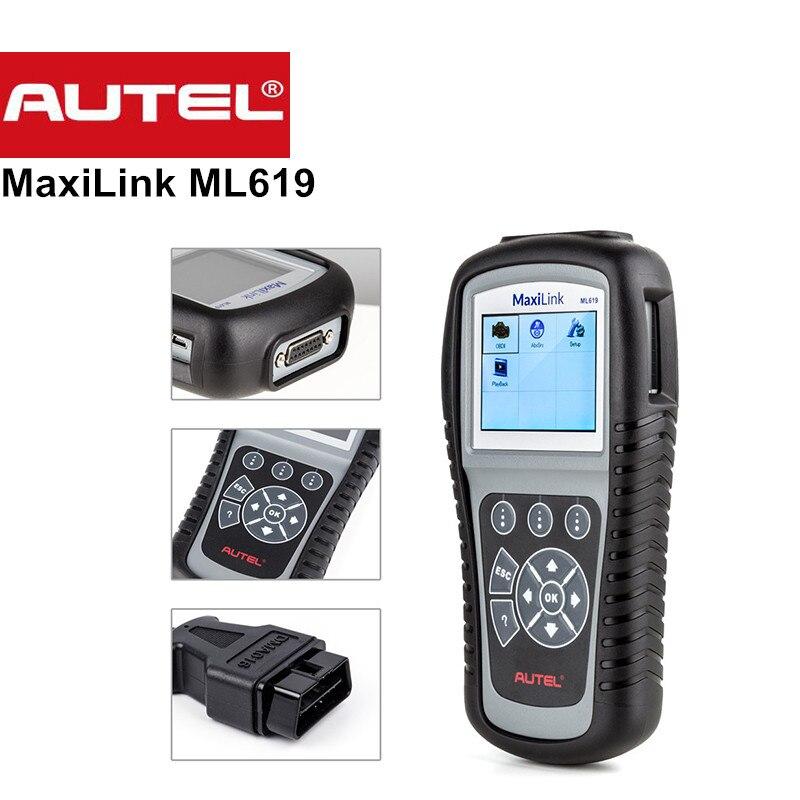 Autel ML619 MaxiLink Outil De Diagnostic Scanner OBD2 Code de Défaut Automatique Lecteur Scanner SRS PEUT ABS Airbag Automobile De Diagnostic-Outil