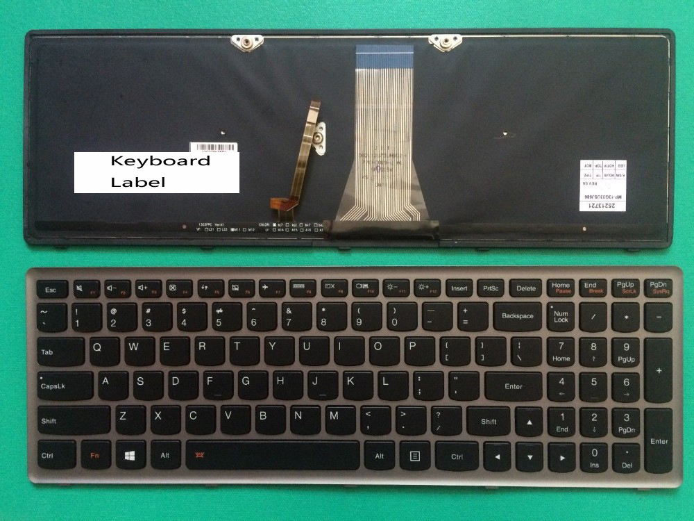 New keyboard for Lenovo Z50 Z70 Z50-70 Z50-75 Z50-70AP Backlit us layout new notebook laptop keyboard for dell studio 15 1535 1536 1537 0kr770 backlit french layout