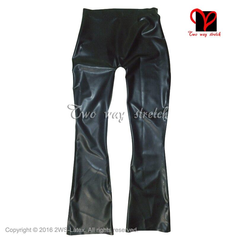 Plus size nuove donne di modo di alta qualità della vita Dell'impero ufficio formale OL Della Chiusura Lampo nero era sottile pantaloni di cuoio genuino XXXL - 3