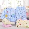 (2 шт./компл.) Новорожденный Ребенок 0-6 М зима Комплект Одежды Мальчик/Девочка установленные Одежды теплая одежда набор мультфильм зимнее пальто