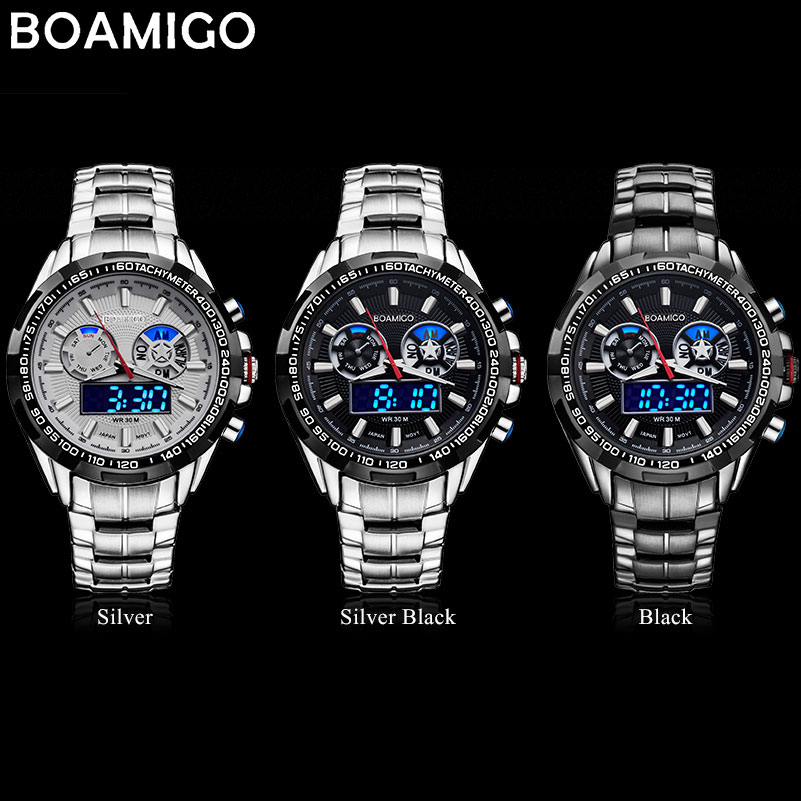 BOAMIGO top luxe merk mannen sport horloges militaire mode-business - Herenhorloges - Foto 5