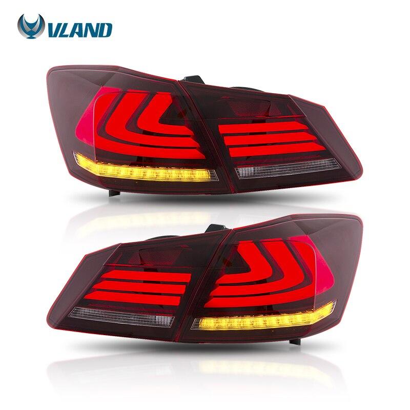 Vland Usine pour feu arrière led pour Honda Accord 2013-2015 avec Clignotant Signal + led Mobile feu arrière