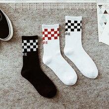 2018 new couple black and white plaid tide Street Harajuku skateboard casual men and women classic