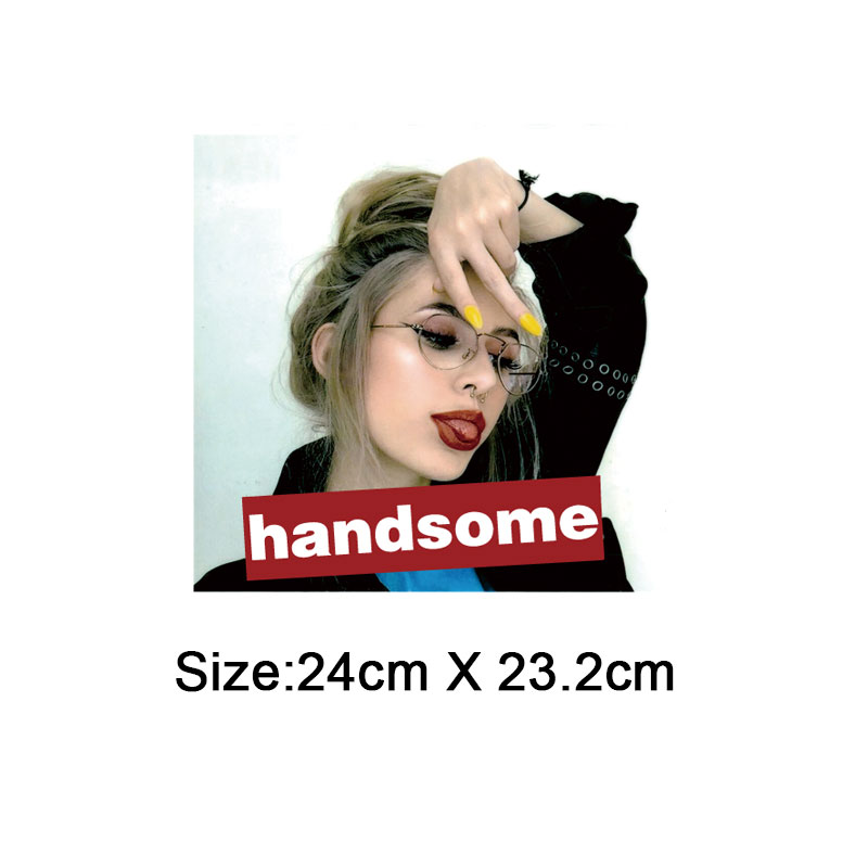 cute girl iron on transfer patches for clothing fashion ironing stickers heat transfer for t shirt diy accessory parches ropa in Patches from Home Garden