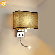 LED E27 Bulb Wall Light Modern Bedroom Bedside Hotel Living Room Sconce Lighting 7W 85-265V Indoor Night Fixture