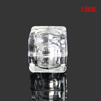 15G silver square shape cream bottle  cream jar Cosmetic Jar Cosmetic Packaging cosmetic container
