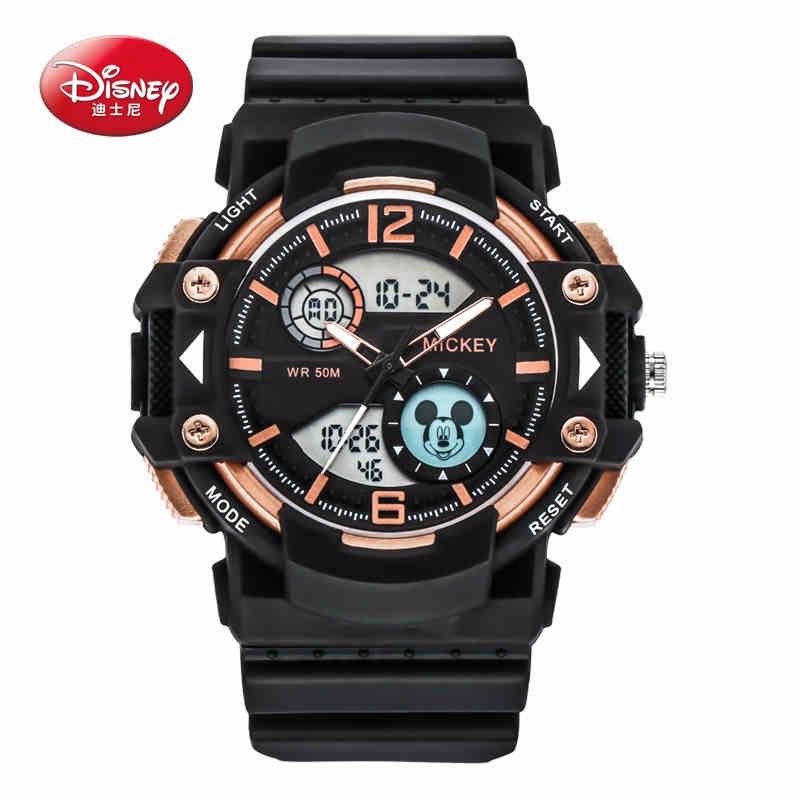 Disney Genuine Leather Watches Men Quartz Digital Fashion Military Casual Sports Watch Luxury Brand Relogio Outdoor