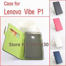Для Lenovo Vibe P1 Роскошные левый и правый флип хит цвет с Чехол кобура для Lenovo Vibe P1 смартфон с подставкой кожаный чехол