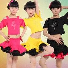 Girl Kids Long Sleeves Satandard Latin Competition Dress Children Modern Dance Ballroom Salsa Rumba Tango Samba