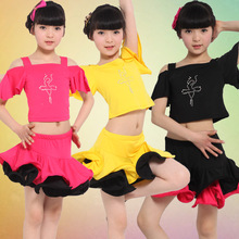 Girl Kids Long Sleeves Satandard Latin Competition Dress Children Modern font b Dance b font Ballroom
