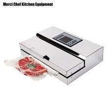 Food Machine 220V Household Commercial Food Vacuum Sealer Packaging Machine Film Sealer Vacuum Packer Stainless Steel Body