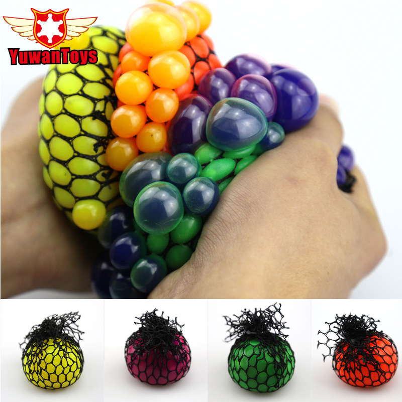 اسباب بازی های خنده دار 5CM Antistress Face Reliever Grape Ball Grist Ball