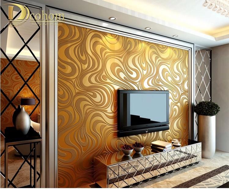 Wysokiej jakości 0.7 m * 8.4 m nowoczesny luksus 3d tapety rolki mural papel de parede uciekają na paski ściany papier 5 kolor r136 18