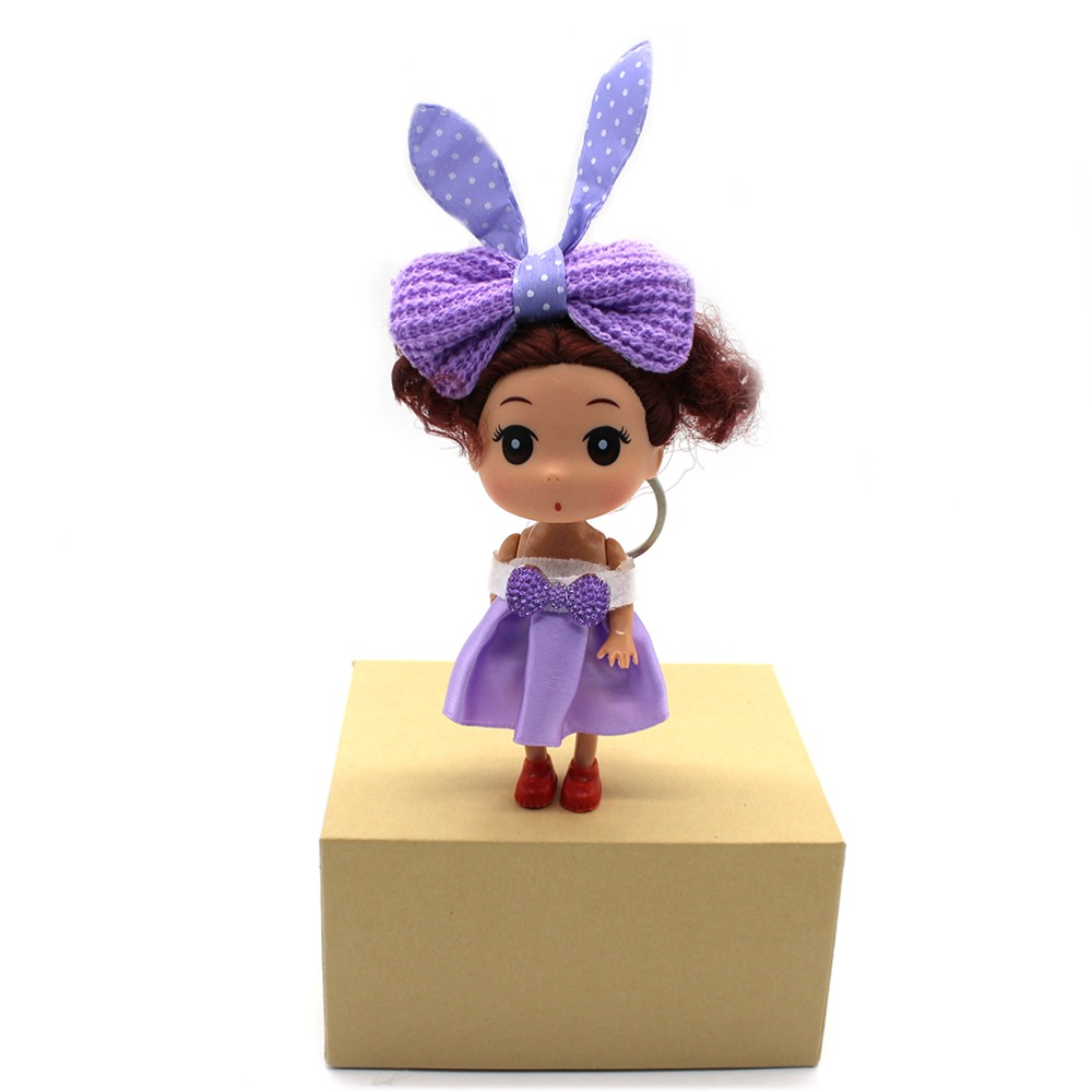 Subcluster 5 PcsSet Fashion Mini 12cm Kawaii Doll for ddung Girl With Beautiful Dress Wedding