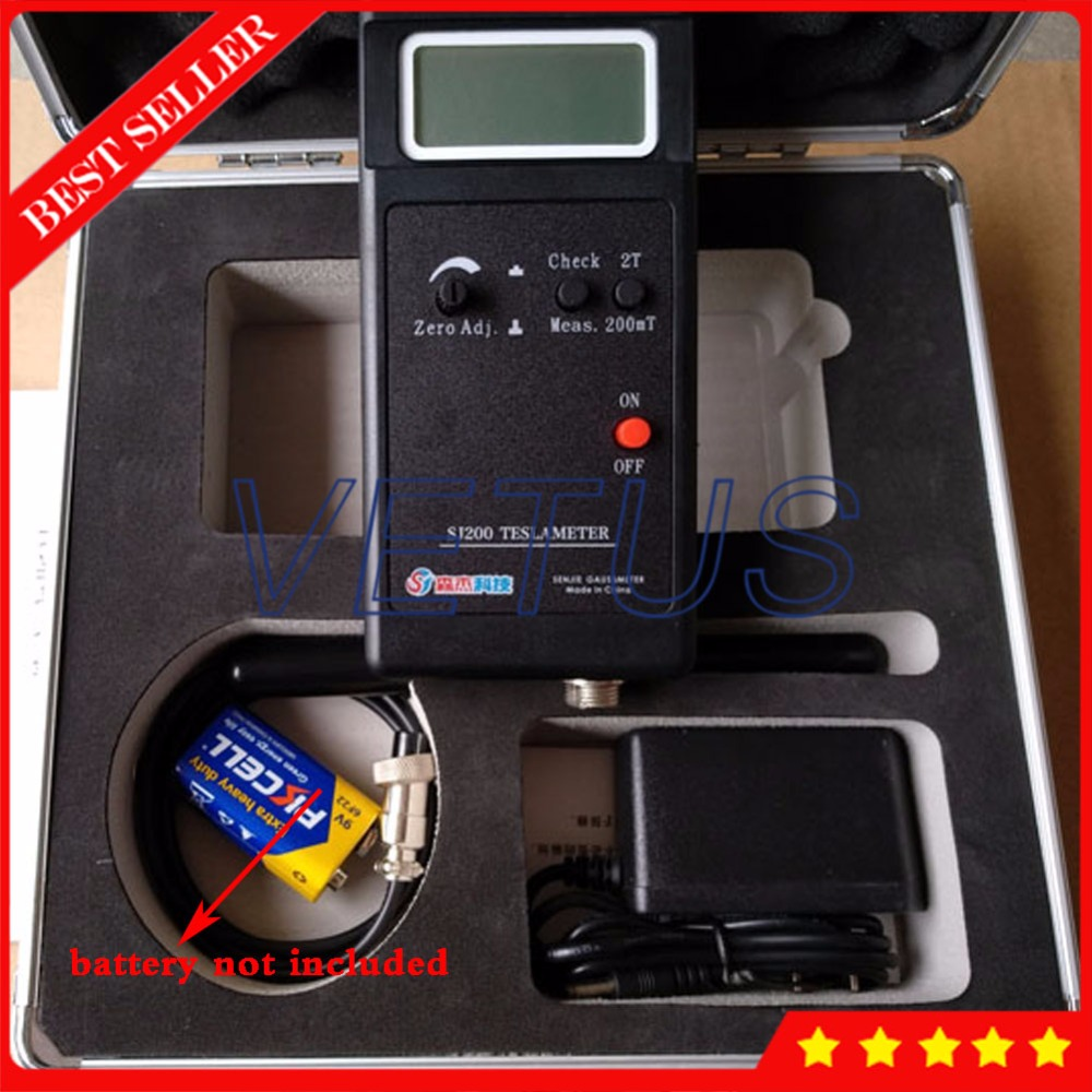 3 1/2 Digital Magnetic Field Tesla Tester Measurement SJ200 with handheld portable Gauss Meter Gaussmeter 0.1mT Resolution