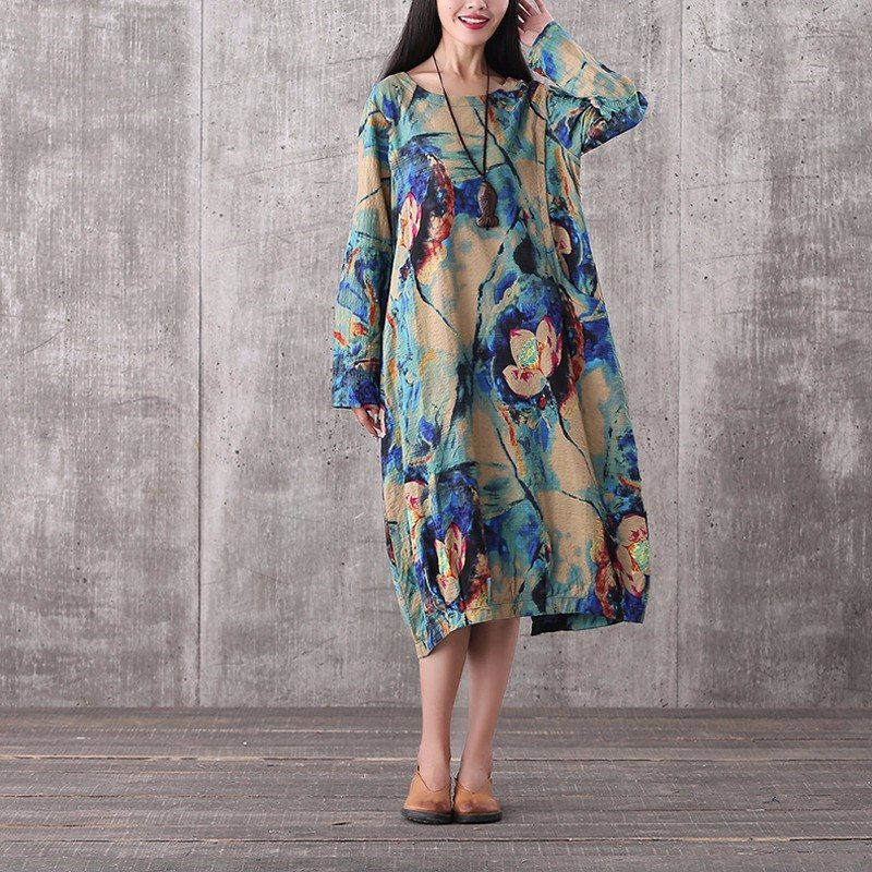 Pregnant Women Dress 2018 Autumn Printed Dresses Pregnancy Clothes Casual Loose Long Sleeve Vestidos Maternaty Clothing
