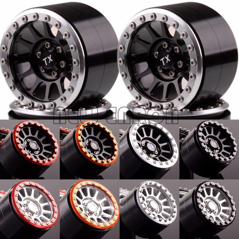 NEW ENRON Aluminum 2.2 12 Spokes Beadlock Wheels(4) 2022 For Axial Yeti/Wraith RC Crawler mxfans rc 1 10 2 2 crawler car inflatable tires black alloy beadlock pack of 4