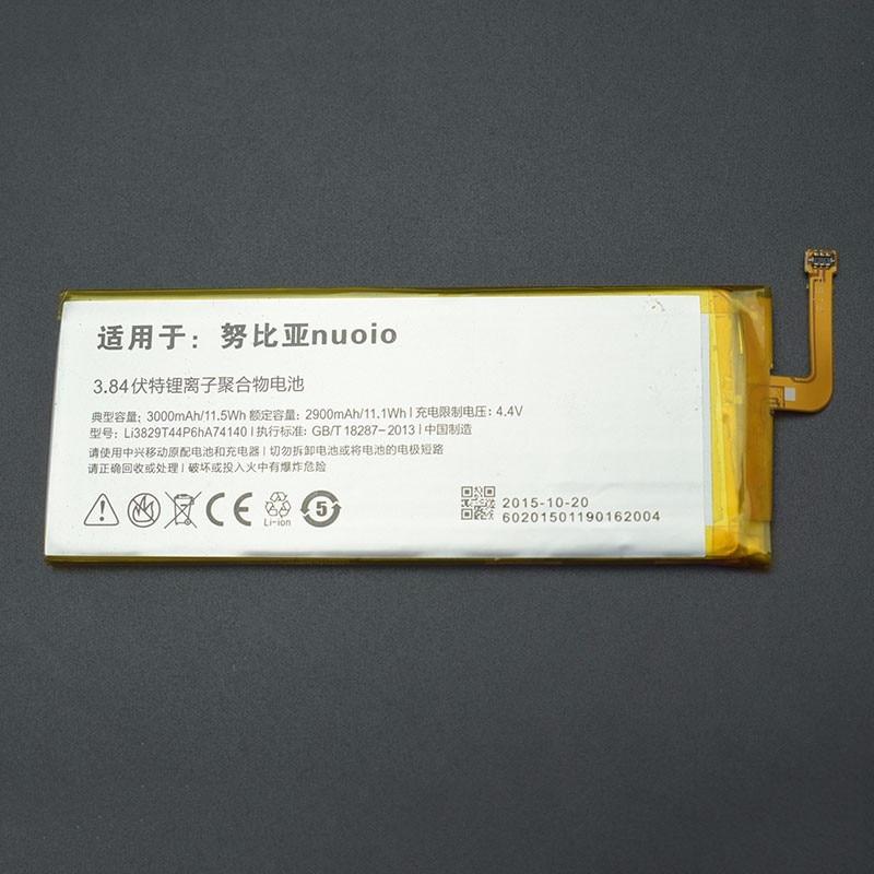 Zte nubia z9 mini batterie hohe qualität li3829t44p6ha74140 nx511j 3000 mah batterie-backup ersatz für zte nubia z9 mini