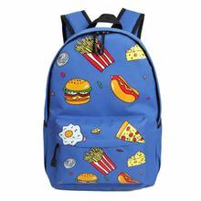 Рюкзак женский ретро Harajuku женские рюкзаки Burger Школьные Сумки Подростков Girls Mochilas feminina дорожная сумка рюкзак 2017
