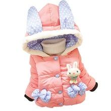 цена на 2016 children outerwear baby girls cotton Hooded coats children Winter Jacket fancy parkas Kids clothing Girls Down & Parkas