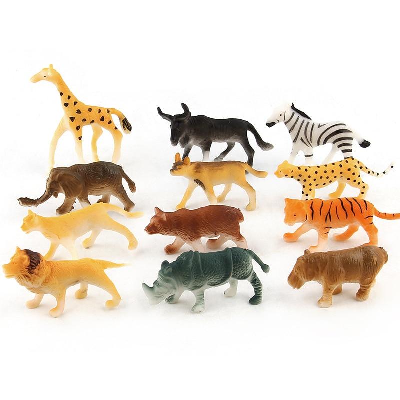Tiger Family Playset Wild Animal Figure Model Kid Educational Toy Home Decor