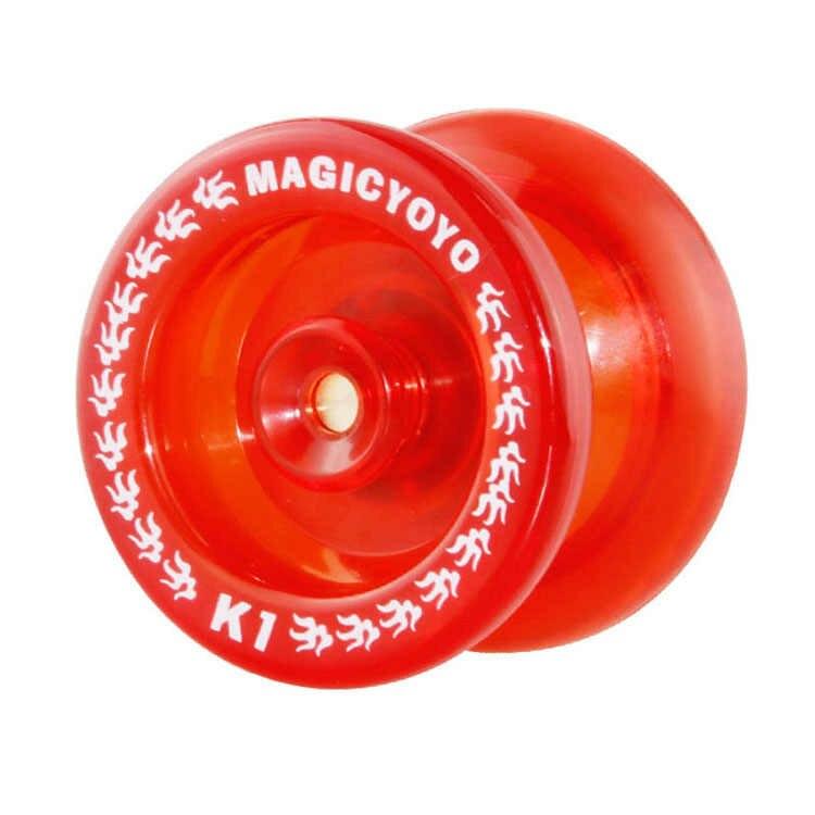Gran oferta de juguetes clásicos para bebés Yoyo, juguete de magia profesional yoyó K1 Spin de aleación de aluminio, Yoyo de 8 bolas KK con cadena giratoria